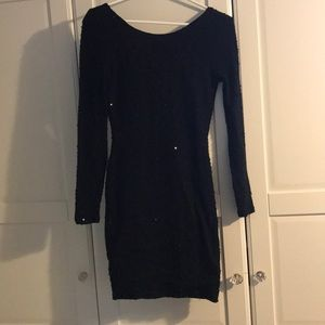 Black sequined dress Size small Jennifer Lopez